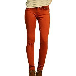 Rag & Bone Midrise Denim Leggings Burnt Orange 29